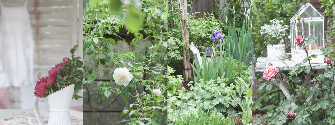 Gundis Gartenblog Unser Hofgarten Shabby Chic Vintage Style